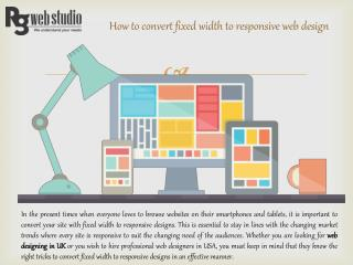 How to convert fixed width to responsive web design