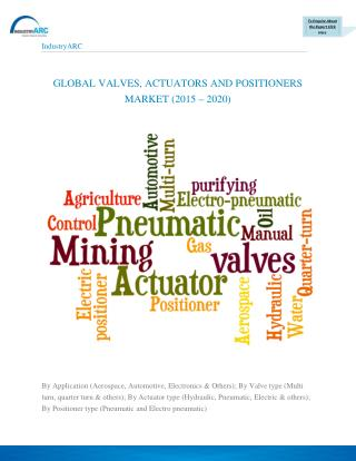 Valves Actuators and Positioners market revenue projected to