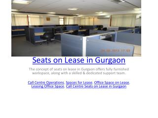 Seats on Lease in Gurgaon