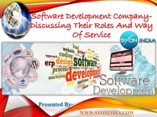 Software Development Company- Discussing Their Roles