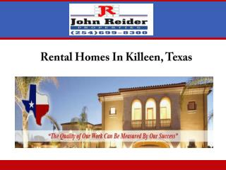 Rental Homes In Killeen, Texas