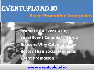 Online Event Promotion Companies