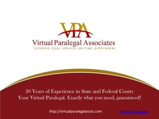 Virtual Paralegals Associates INC
