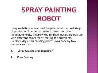 SPRAY PAINTING ROBOT