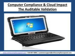 Computer Compliance & Cloud Impact Part-Online Training