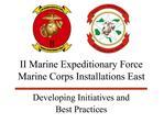 II Marine Expeditionary Force  Marine Corps Installations East