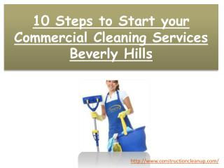 10 Steps to Start your Commercial Cleaning Services Beverly