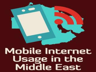 Figures of Mobile Internet Users in Middle East