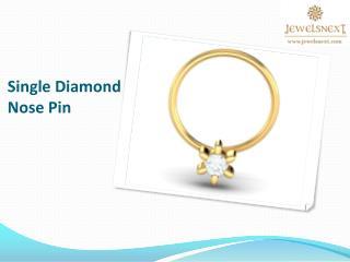 single diamond nosepin