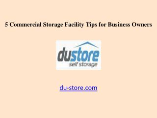 5 Dubai Commercial Storage Facility Tips for Business Owners