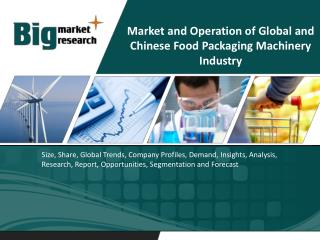 Global and Chinese Food Packaging Machinery Industry