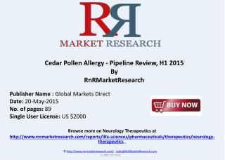 Cedar Pollen Allergy Pipeline Review, H1 2015