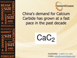 China's demand for Calcium Carbide has grown at a fast pace