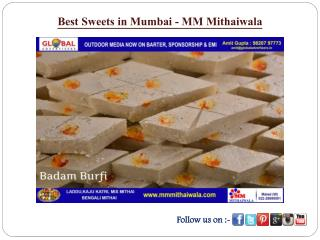 Best Sweets in Mumbai - MM Mithaiwala