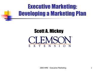 Executive Marketing: Developing a Marketing Plan