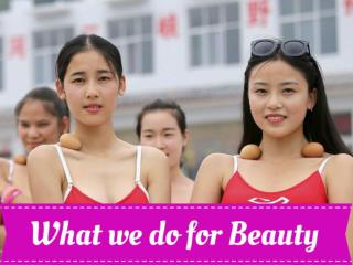 What we do for Beauty