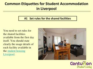 Common etiquettes for student accommodation in Liverpool