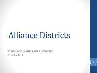 Alliance Districts