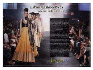 Lakme Fashion Week Official Designer Anarkali Suits