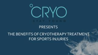 Benefits of Cryotherapy Treatment For Sports Injuries