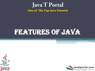 Features of Java - JavaTportal