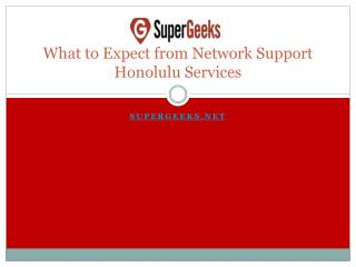 What to Expect from Network Support Honolulu Services