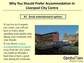 Why you should prefer accommodation in Liverpool city centre