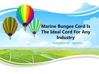 Marine Bungee Cord Is The Ideal Cord For Any Industry