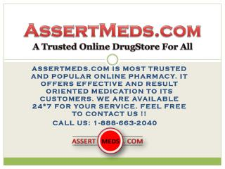 Assertmeds.com The Secured Online Pharmacy For Men and Women