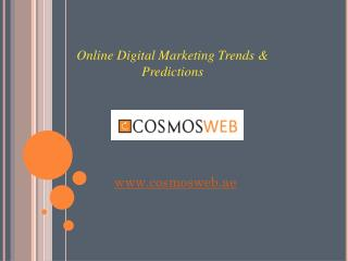 Top Online Digital Marketing Trends & Predictions in Dubai