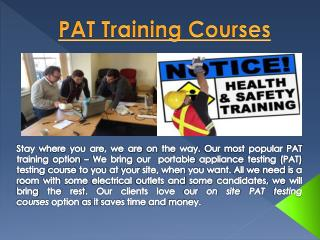 1 Day PAT Testing Courses