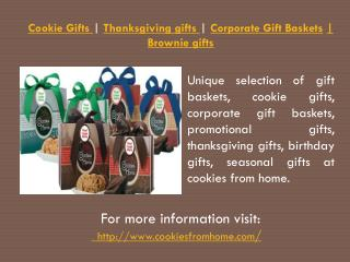 Cookie Gifts | Thanksgiving gifts | Corporate Gift Baskets |