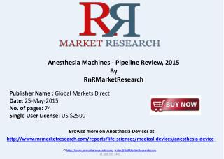Anesthesia Machines Pipeline Review, 2015