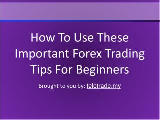 How To Use These Important Forex Trading Tips For Beginners