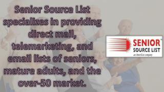 Elderly Mailing List