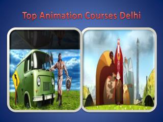 top animation courses delhi