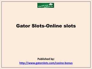 Play Free Slots Online