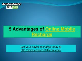 5 Advantages of Online Mobile Recharge