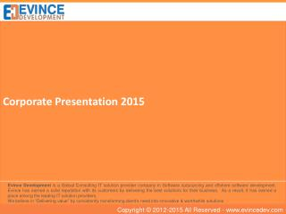 Evince Development Corporate Presentation