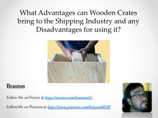 Positives and negatives of using wooden crates