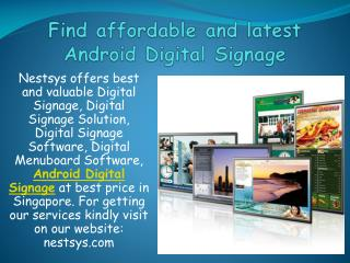 Find affordable and latest Android Digital Signage