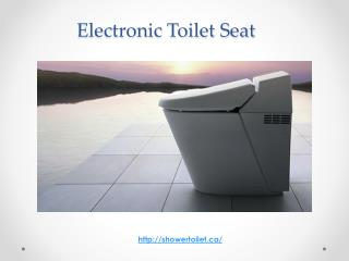 Electronic toilet seat canada