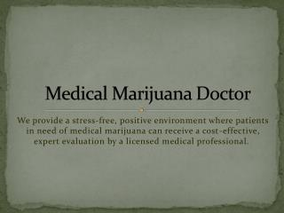 Medical Marijuana Doctor Beverly Hills