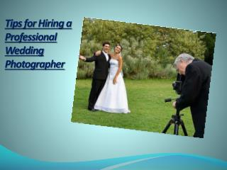 Professional Wedding Photographer Employing Tips