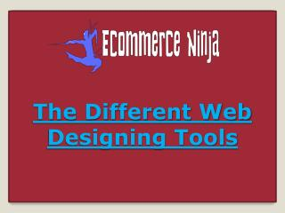The Different Web Designing Tools