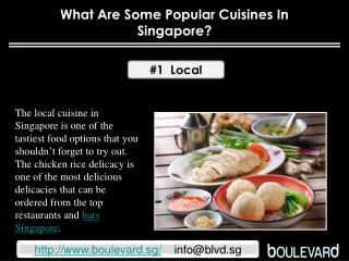 What are some popular cuisines in Singapore?
