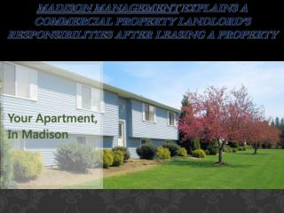 Madison Management explains a commercial property landlord