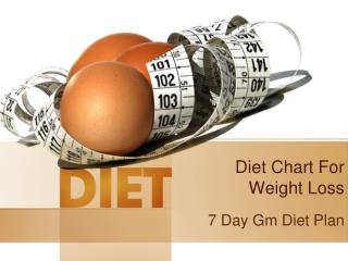 7 day gm diet plan - Loss Weight in 7 Days