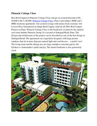 Pinnacle Group Launched Cottage Close at Singhad Road Pune