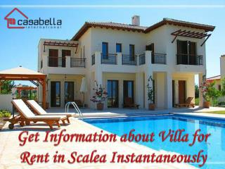 Get Information about Villa for Rent in Scalea